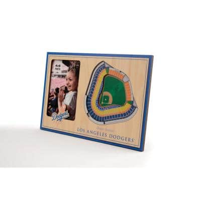 MLB Los Angeles Dodgers Team Colored 3D StadiumView with 4 in. x 6 in. Picture Frame