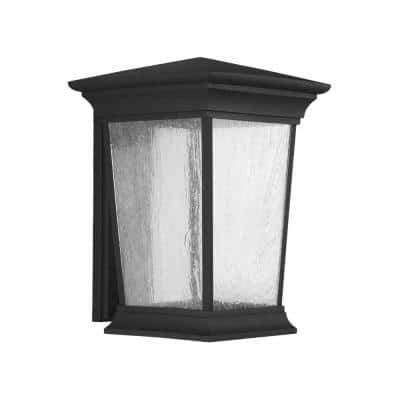 Arrive Collection 1-Light 16 in. Outdoor Black LED Wall Lantern Sconce