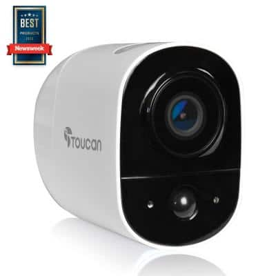1-Channel Home Surveillance System 1080P FHD Video with 2.4Ghz Wi-Fi and 2-Way Communication Wireless Outdoor Camera