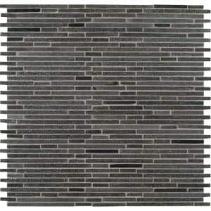 Basalt Blue Bamboo 12 in. x 12 in. x 10mm Honed Mesh-Mounted Mosaic Tile (10 sq. ft. / case)