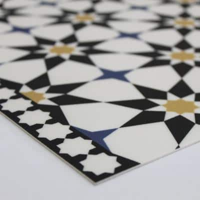 Soleil Moroccan Spice 3 ft. x 7 ft. 6 in. Indoor/Outdoor Vinyl Floor Rug