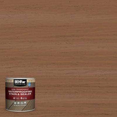 8 oz. #ST-152 Red Cedar Semi-Transparent Waterproofing Exterior Wood Stain and Sealer Sample