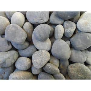 Baja Peninsula 0.25 cu. ft. 1/2 in. to 1 in. Black Mexican Beach Pebble ( 0.25 cu. ft. to 20 lbs. Bag )