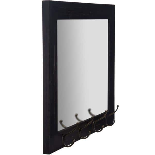 Pinnacle Medium Rectangle Black Mirror 22 In H X 26 In W 18fp1413e The Home Depot