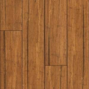 Distressed Mocha 9/16 in. T x 5.31 in. W x 72.87 in. L Engineered Click Bamboo Flooring (21.50 sq. ft)