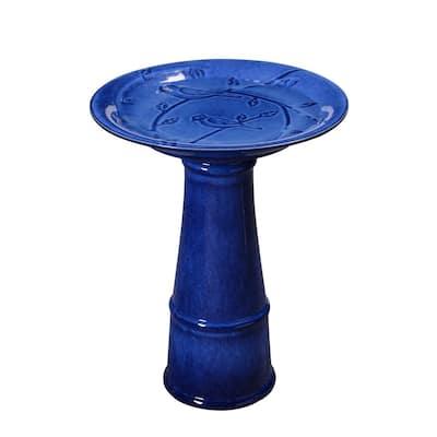 Odani Blue Ceramic Birdbath
