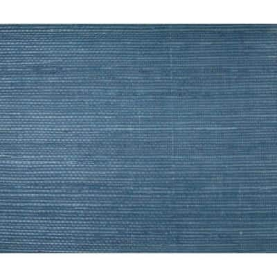 Sisal Twill Dark Blue Paper Non-Pasted Strippable Wallpaper Roll (Covers 72 Sq. Ft.)