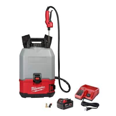 M18 18-Volt 4 Gal. Lithium-Ion Cordless Switch Tank Backpack Concrete Sprayer Kit with 3.0 Ah Battery and Charger
