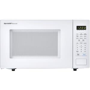 Carousel 1.1 cu. ft. 1000-Watt Countertop Microwave Oven in White (ISTA 6 Packaging)