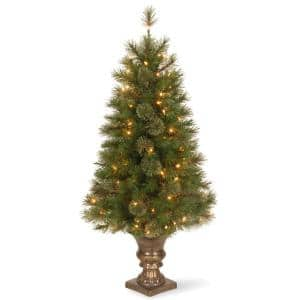 4 ft. Atlanta Spruce Entrance Artificial Christmas Tree with Clear Lights