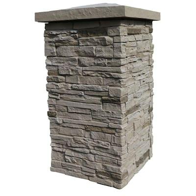 Slatestone Sahara 30 in. x 16 in. Faux Polyurethane Stone Column Wrap (4-Piece)