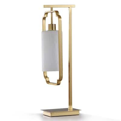 26 in. Satin Brass Metal Traditional Lamp