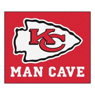 Kansas City Chiefs Red Man Cave 5 ft. x 6 ft. Area Rug