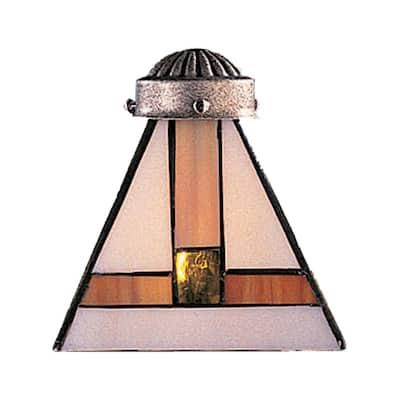 Mix-N-Match 1-Light Multicolor Tiffany Glass Shade