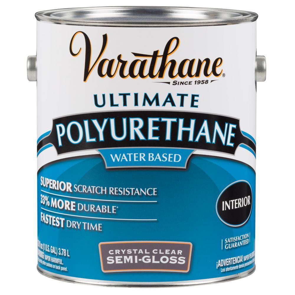 1 Gal. Clear Semi-Gloss Water-Based Interior Polyurethane