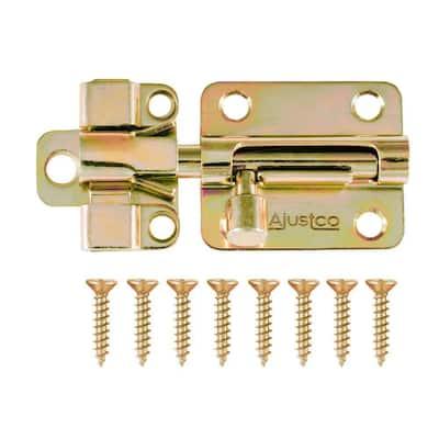 2-1/2 in. Brass Tone Self-Adjustable Barrel Bolt lock