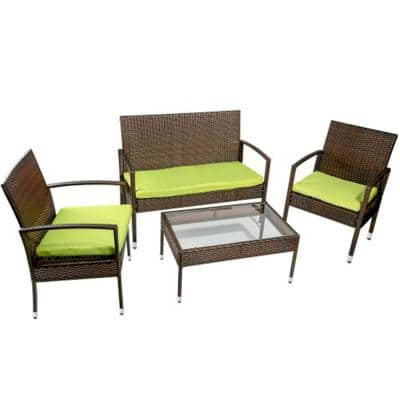 Tear Resistant Canvas Patio Conversation Sets Outdoor Lounge Furniture The Home Depot