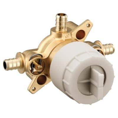 M-CORE 3-Series 1/2 in. 3 Port Shower Mixing Valve with Crimp Ring PEX Connections and Stops