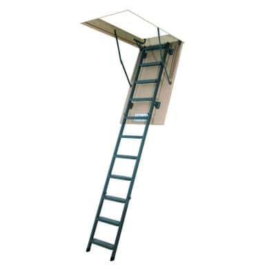 LMS 10 ft., 25 in. x 54 in. Insulated Steel Attic Ladder with 350 lb. Load Capacity Type IA Duty Rating