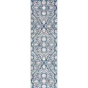 Madison Dark Blue 2 ft. x 7 ft. Geometric Runner Rug