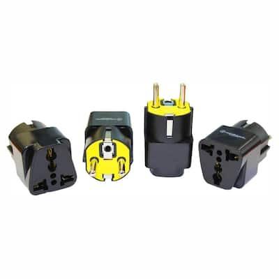 Universal to German Plug Adapter (4-Pack)
