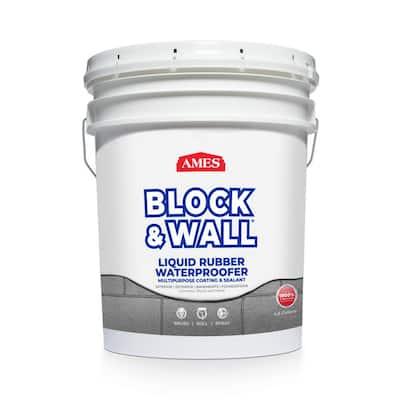Block and Wall 5 gal. Liquid Rubber Waterproof Sealant