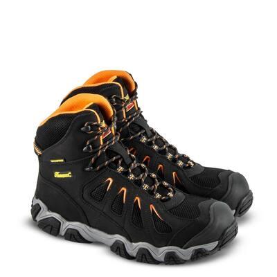 CROSSTREX Waterproof 6 in. Composite Toe Electrical Hazzard Resisting Black/Orange Athletic Hiker Work Boots