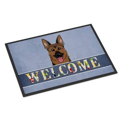 18 in. x 27 in. Indoor/Outdoor German Shepherd Welcome Door Mat