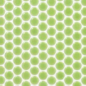 Bliss Edged Penny Round Wheat Grass 12 in. x 12 in. x 10 mm Polished Ceramic Mosaic Tile