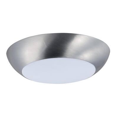Diverse LED 1-Light Satin Nickel Flush Mount