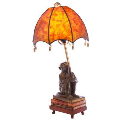 21.75 in. Monkey Base Amber Lamp