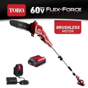 10 in. 60-Volt Lithium Ion Cordless Electric Pole Saw - Battery and Charger Included