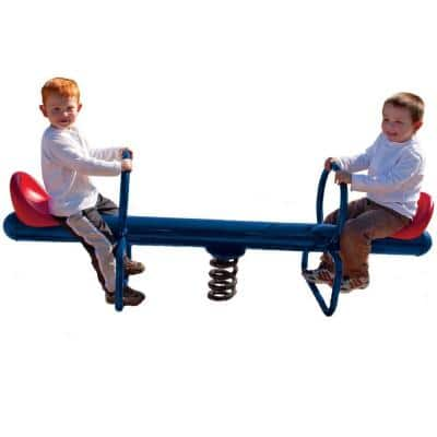 UPlay Today Commercial 2-Rider Spring See Saw with Blue and Red Seats