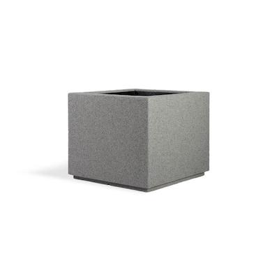 Monterrey Square 23 in. x 23 in. Gray Granite Composite Window Boxes & Troughs