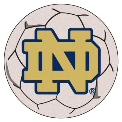 NCAA Notre Dame Irish Logo Cream 2 ft. x 2 ft. Round Area Rug