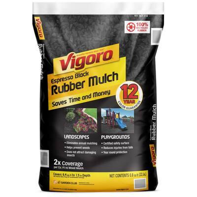 0.8 cu. ft. Espresso Black Bagged Rubber Mulch
