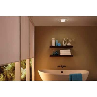 QT Series 130 CFM Ceiling Bathroom Exhaust Fan with Light and Night Light, ENERGY STAR*