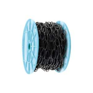 50 ft. Black Open Oval Decorative Chain Reeled