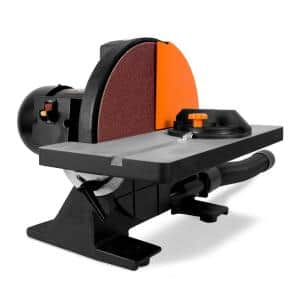 Corded 12 in. Benchtop Disc Sander with Miter Gauge and Dust Collection System