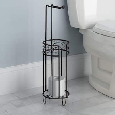 Twigz Freestanding Toilet Paper Holder Plus in Bronze