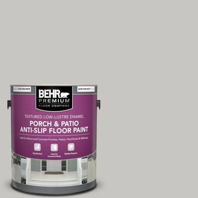 1 gal. #PPU24-16 Titanium Textured Low-Lustre Enamel Interior/Exterior Porch and Patio Anti-Slip Floor Paint