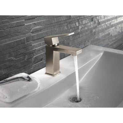 Modern Single Hole Single-Handle Bathroom Faucet in Stainless