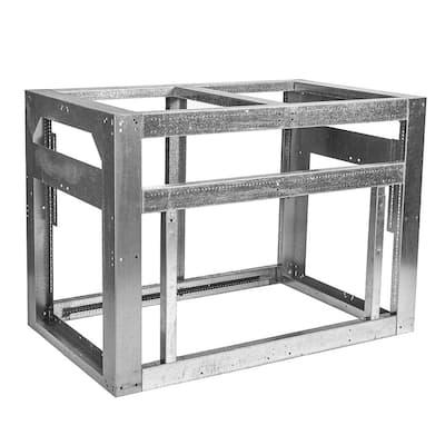 Outdoor Kitchen Framing Island Module 48 in. in Galvanized Steel
