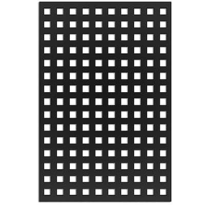 Square 4 ft. x 32 in. Black Vinyl Decorative Screen Panel