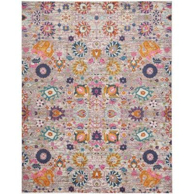 Passion Silver 8 ft. x 10 ft. Persian Vintage Area Rug