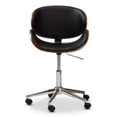 Ambrosio Black Faux Leather Office Chair