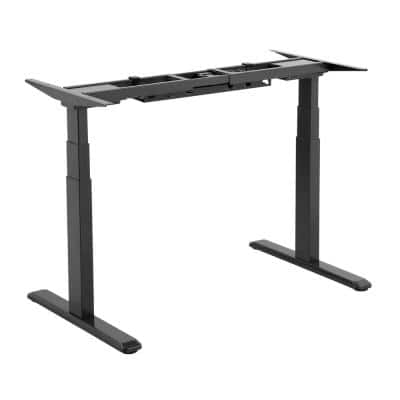 TygerClaw 39.4 in. Black Dual Motor Electric Sit-Stand Desk