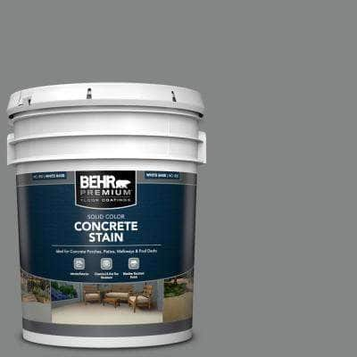 5 gal. #PFC-63 Slate Gray Solid Color Flat Interior/Exterior Concrete Stain