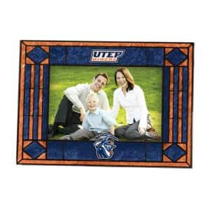 NCAA 4 in. x 6 in. Gloss Multicolor Art Glass Texas El Paso Picture Frame