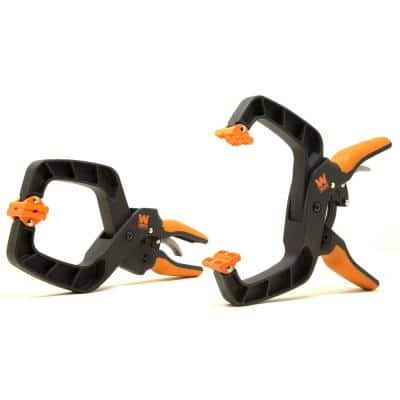 Quick-Release Ratcheting Hand Clamps with 4 in. Jaw Opening and 3 in. Throat Set (2-Piece)